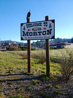 Welcome to Morton sign